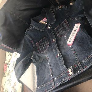 Jackets & Blazers - Girls Denim Jacket with bling
